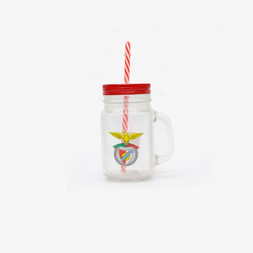 SL Benfica Jar with Straw