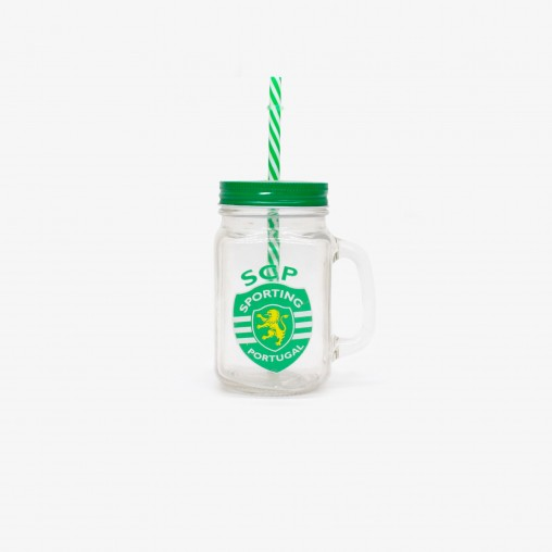 Sporting CP Jar with Straw