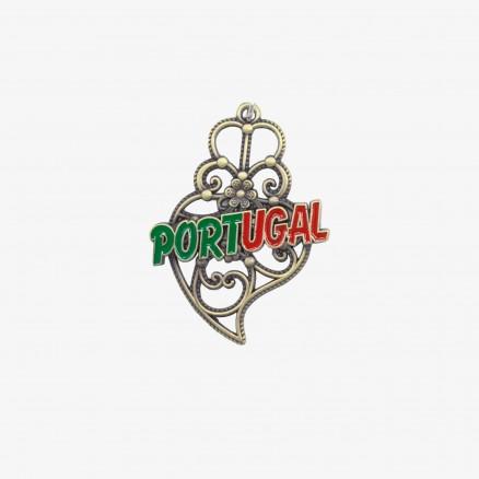 Porta-chaves Força Portugal Coração