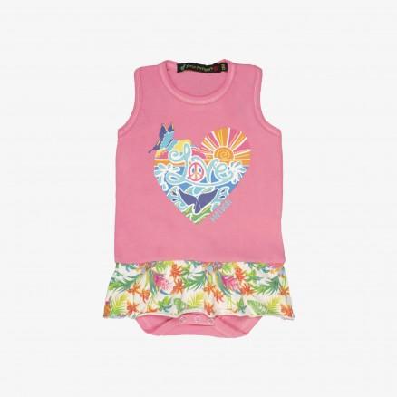 Força Portugal Heart Babygrow (Baby Girl)