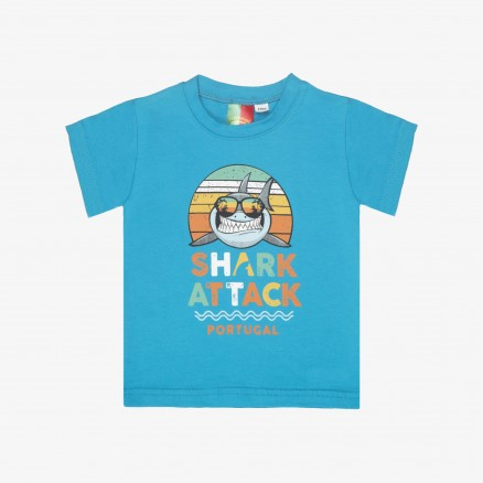 T-Shirt Força Portugal Shark Attack Bébé