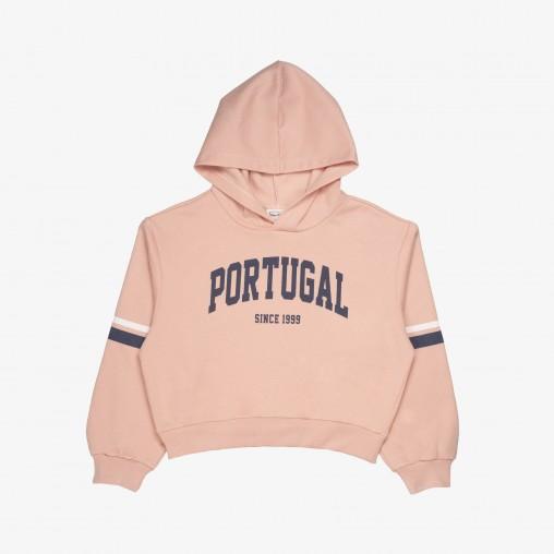 "Força  Portugal ""Portugal Since 1999"" Croped Hoodie (Girl)"