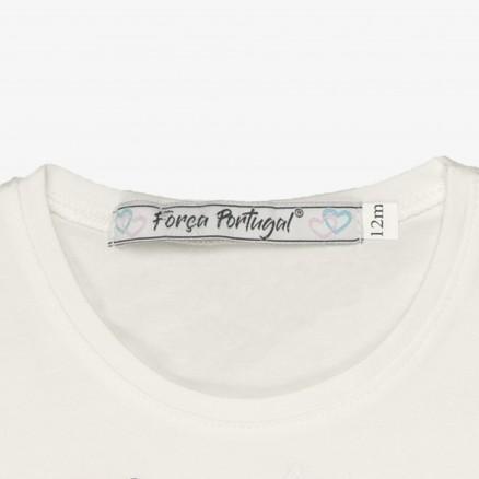 T-Shirt Força Portugal Unicórnio Bébé (Menina)