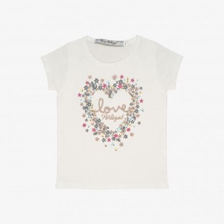 "T-Shirt Força Portugal ""I Love"" Bébé (Fille)"