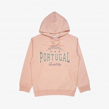 Sweat à Capuche Força Portugal Authentic JR (Fille)