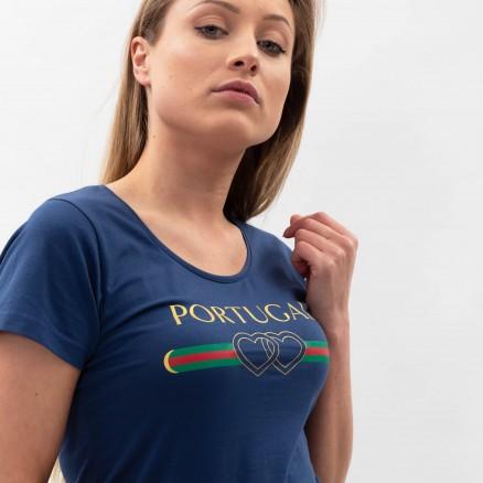 T-Shirt Força Portugal Duplo Coração
