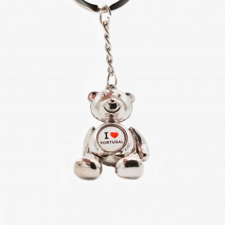 """Porta-chaves  Força Portugal Urso """"I love"""""""